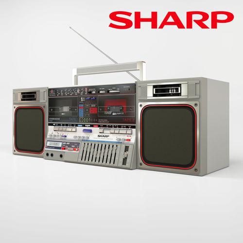 sharp gf-800z 3d model max obj mtl 1