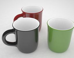3D model animated Cup Glass
