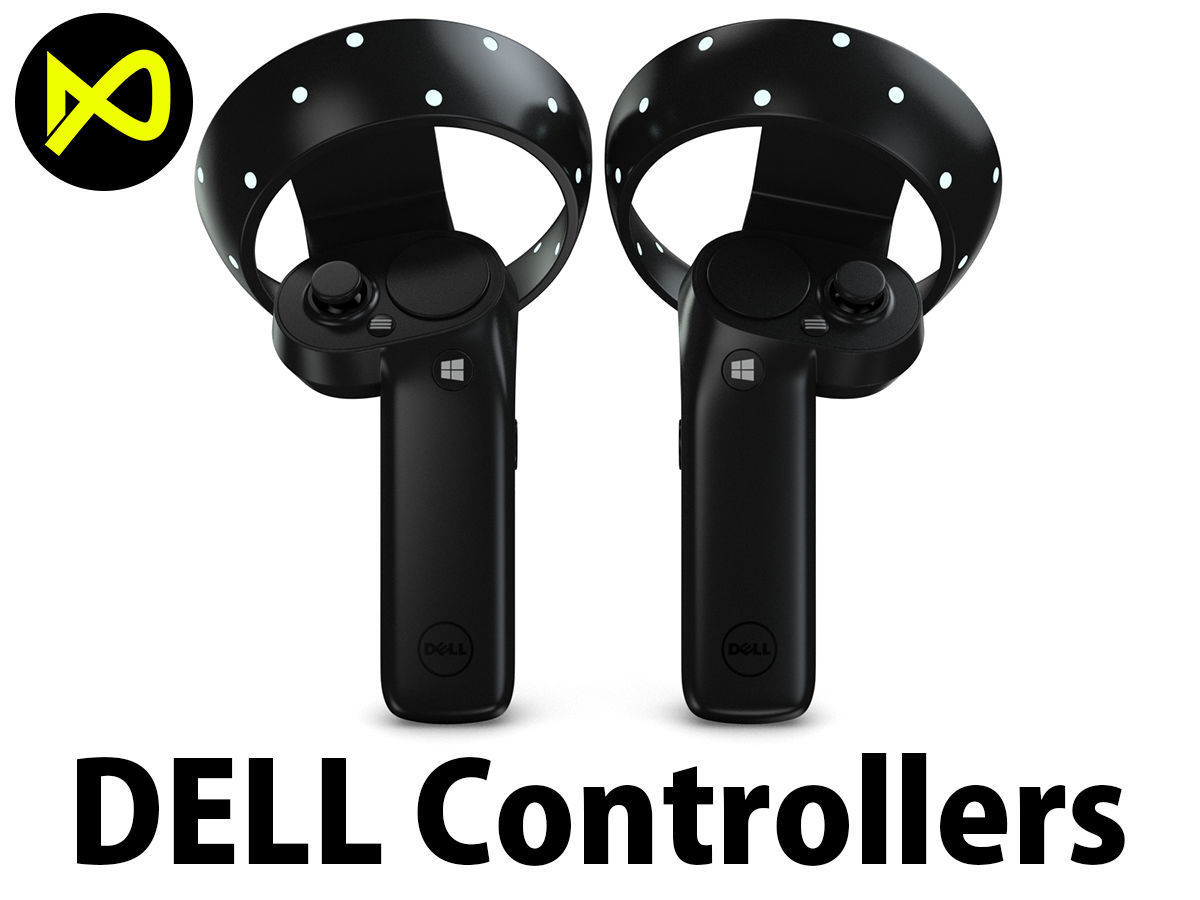 The Dell Visor Windows Mixed Reality Controllers | 3D model