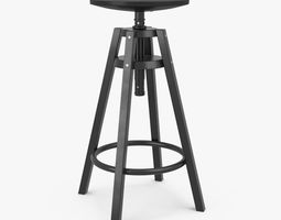 3D model Ikea Dalfred Bar Stool