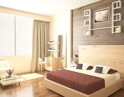 3D model window and wall decor