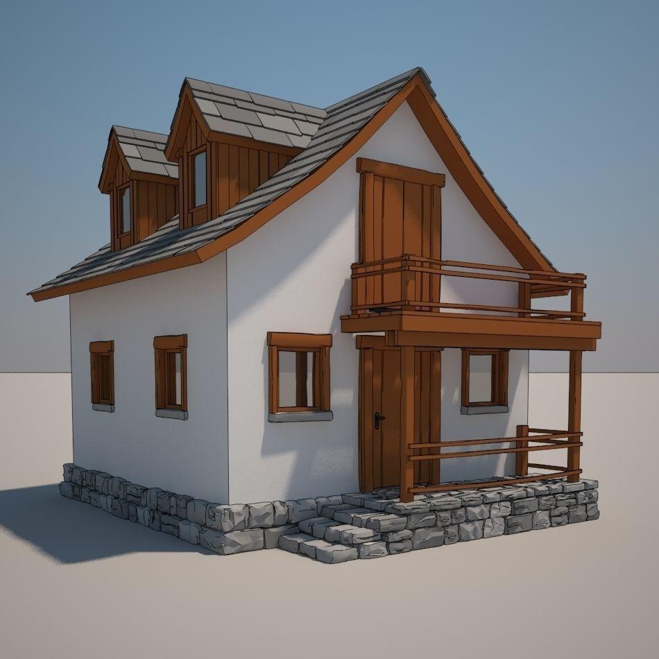 Cartoon Medieval House 08