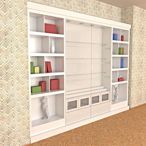 Wooden White Painted Bookshelf