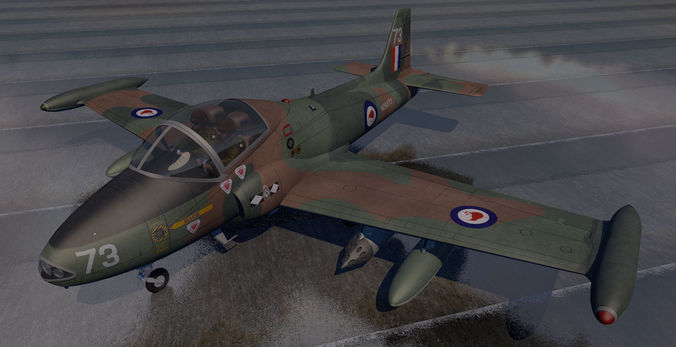 bac 167 strikemaster mk-88 3d model obj mtl 3ds fbx c4d lwo lw lws dae 1