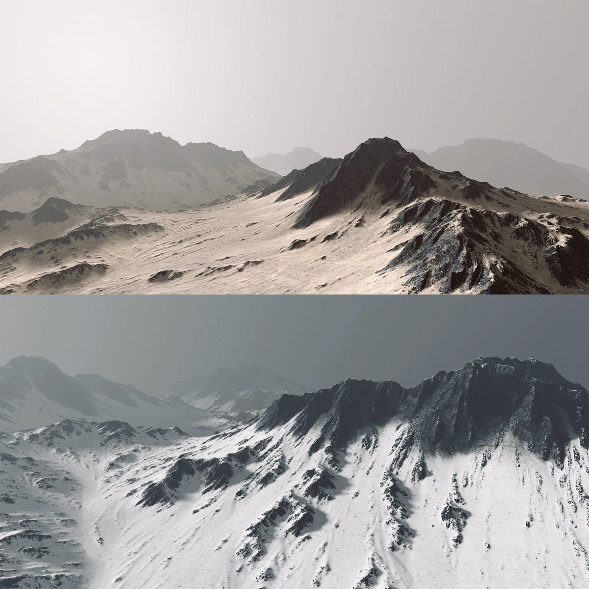 Mountains terrain