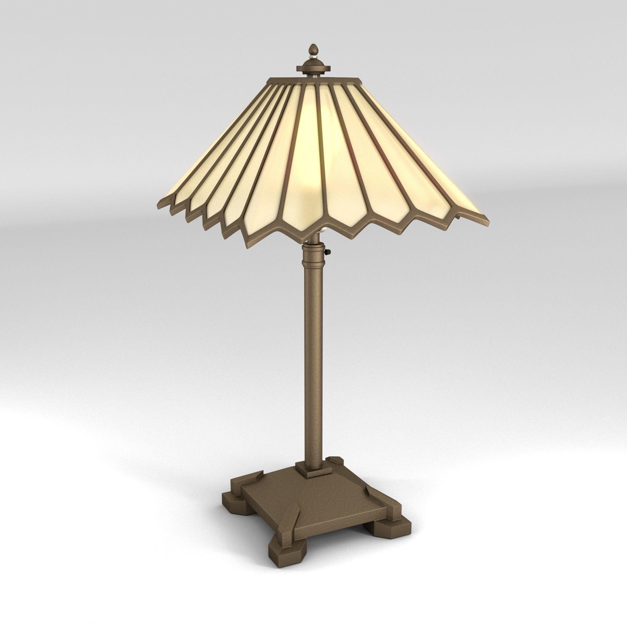 art deco lamp. Art Deco Lamp 1 3d Model Obj Fbx Ma Mb I