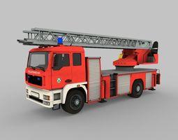 Fire truck ladder 3D asset