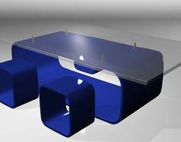 Modern Bar Table set 3D model