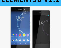 E3D - Sony Xperia XA1 XA1 Ultra Black model