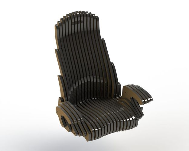 Custom Office Chair 3d Model Dxf Stl Sldprt Sldasm Slddrw Ige Igs Iges 1