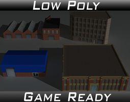3D asset Factory Building Set 2