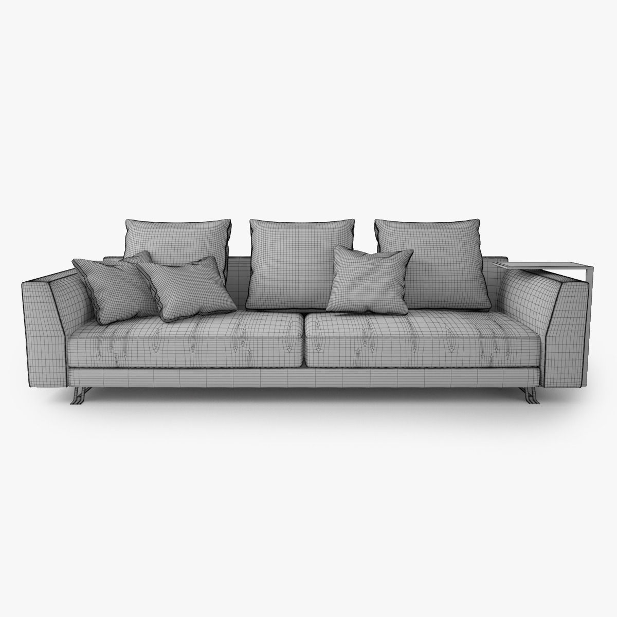 Burton Leather Sofa: Busnelli Burton Sofa 3D Model .max .obj .fbx