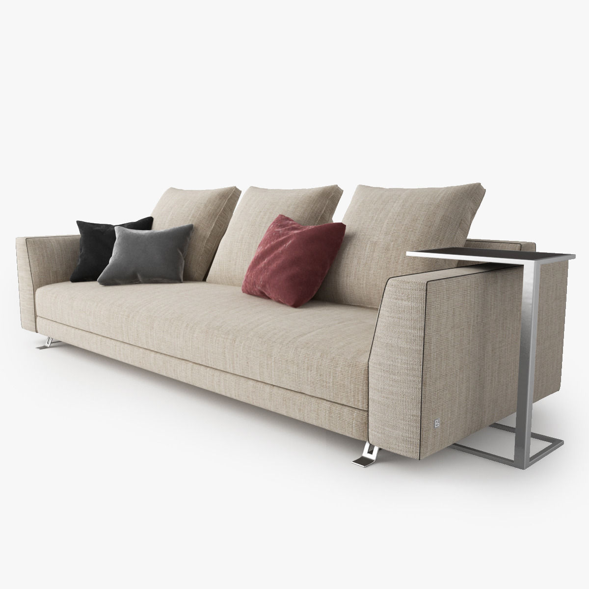 Busnelli Burton Sofa 3d Model Max Obj Fbx Cgtrader Com