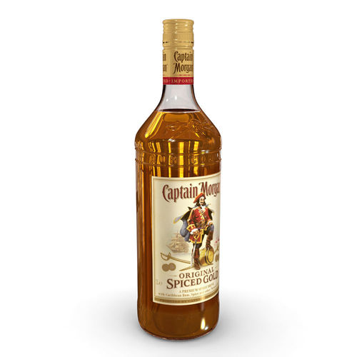 captain morgan 1l bottle 3d model max obj mtl 3ds fbx c4d ma mb 1