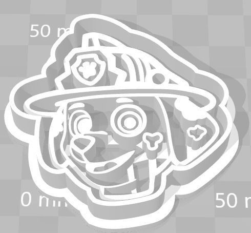 Paw Patrol Cookie Cutter Details Marshal
