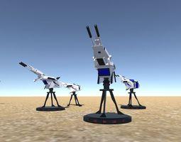 3D asset Battle Arctic Turret - Fantasy weapons for games