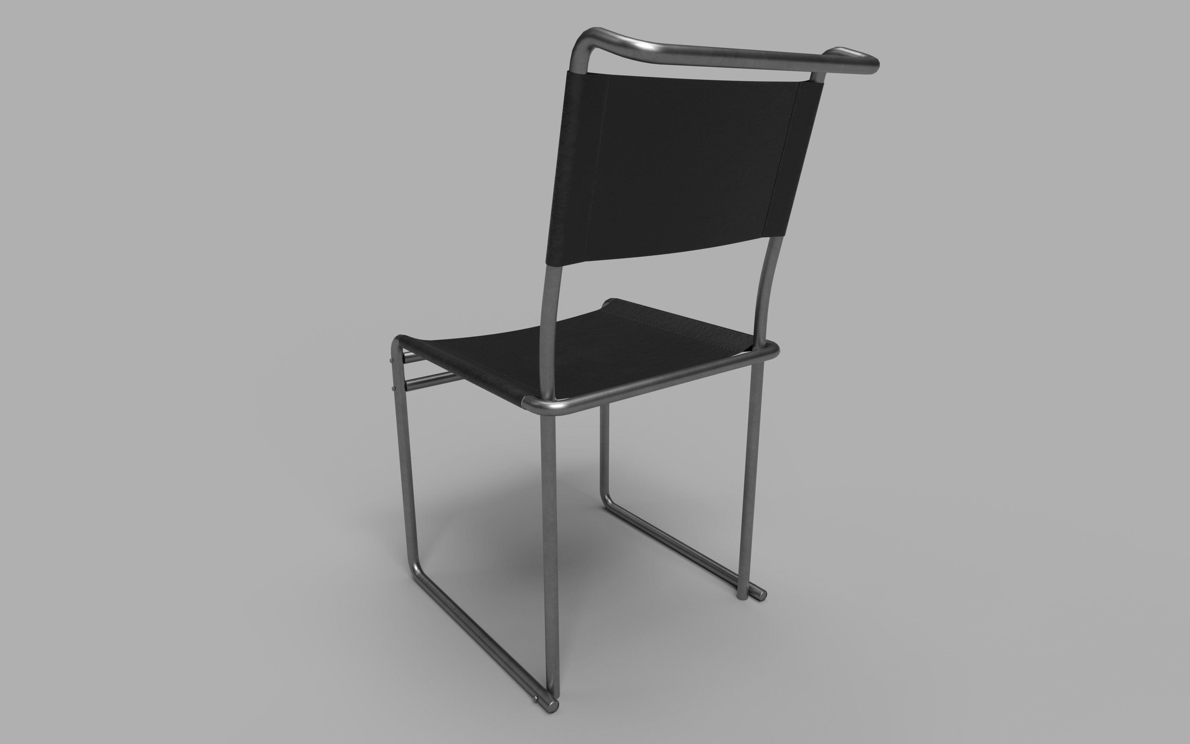 ... Classic Breuer Chair 3d Model Low Poly Obj Mtl 3ds Fbx Tga 6 ...