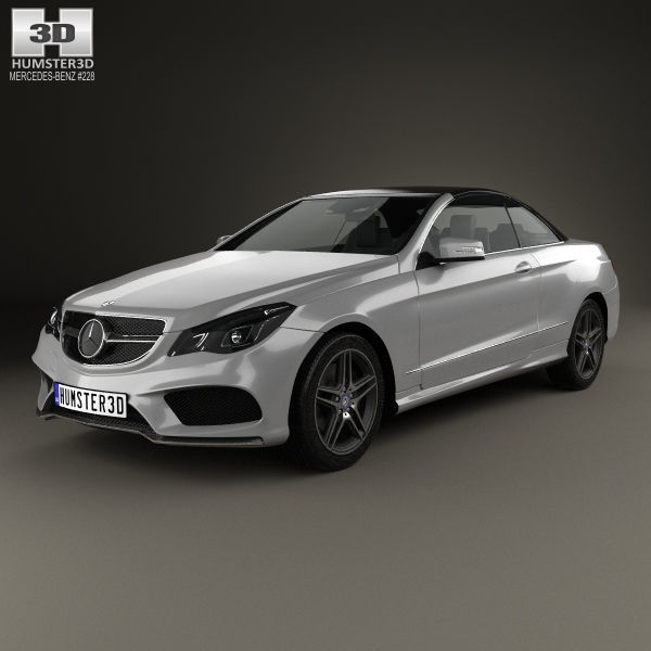 3D Model Mercedes-Benz E-Class Convertible AMG Sports 1
