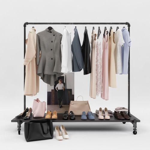 womens and mens wardrobe 3d model max fbx 1