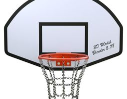 Basketball Hoop With Chain Net 3D