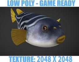 3D asset Puffer fish