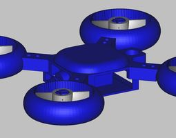 3D printable model quadcopter keychain