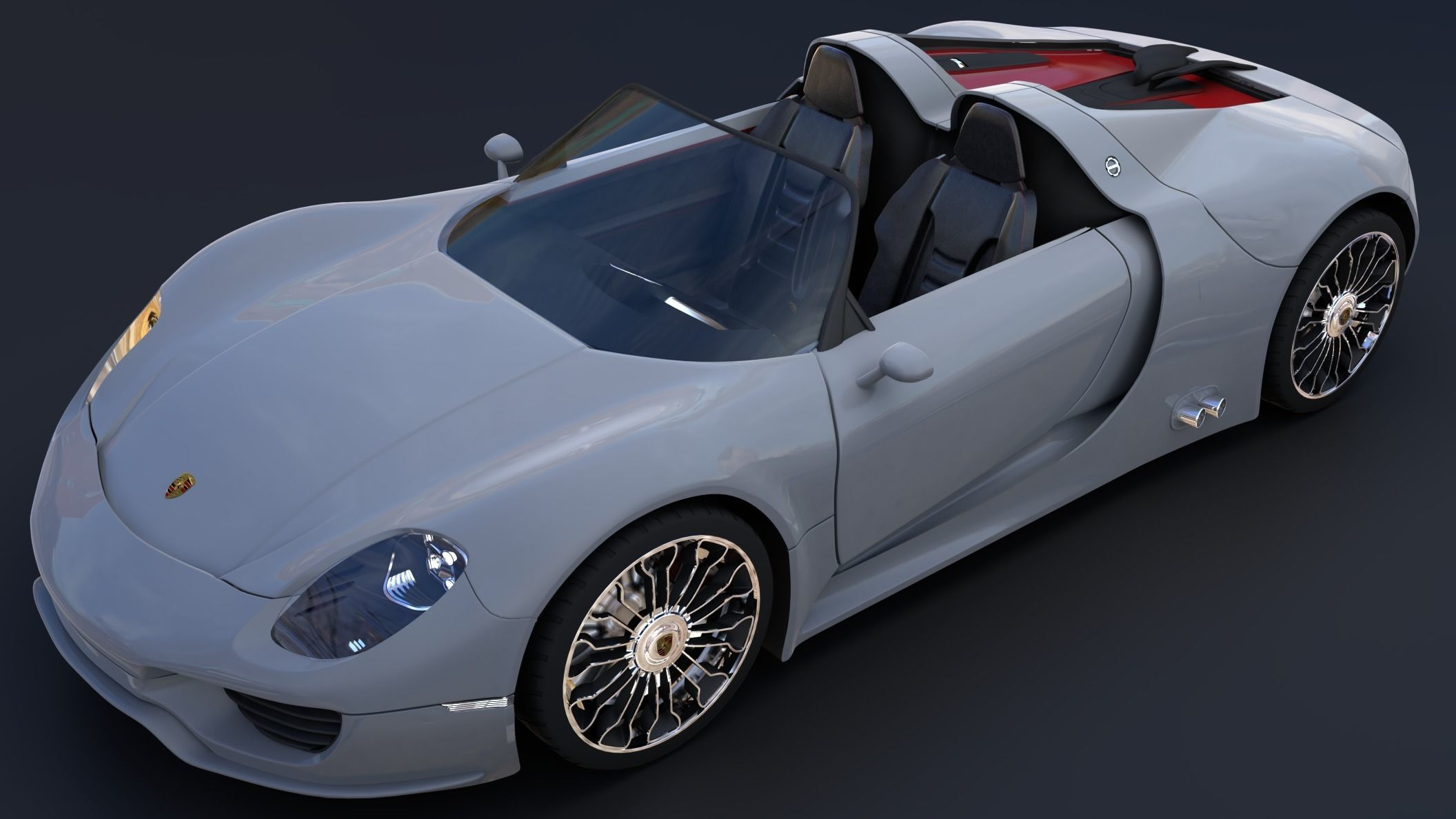 Porsche 918 Spyder Model Obj Mtl S Blend Dae Abc