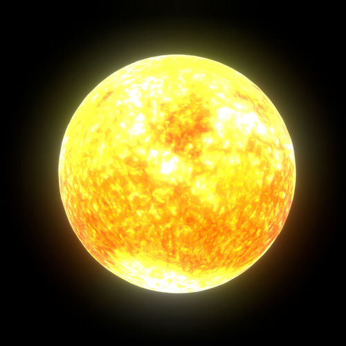 low poly sun 3d model fbx ma mb 1