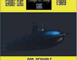 SSN SEAWOLF sub model