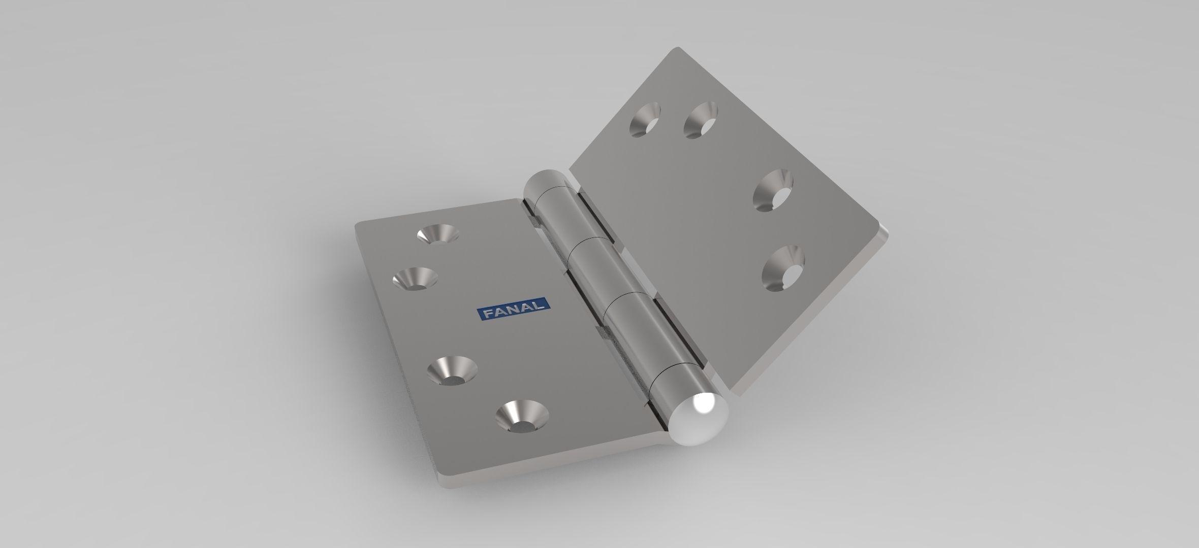 Door hinge 3d model ige igs iges for Door 3d model