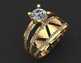 3D print model style ring jewellery