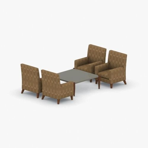 0995 - sofa chair and table set 3d model max obj mtl 3ds fbx dae pdf 1