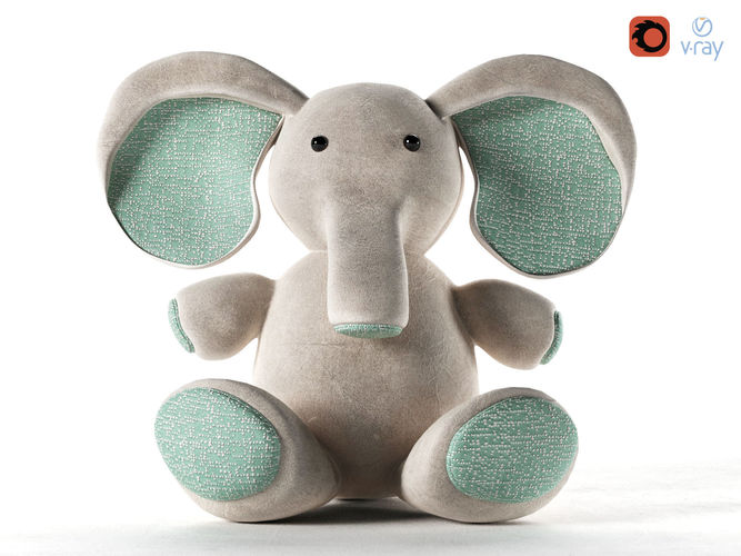 elephant toy 3d model max obj mtl 1