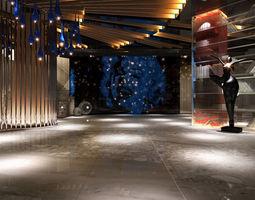 3D asset modern hall studio