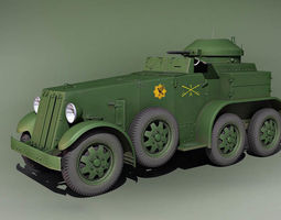 Cunningham combat car M1 USA 1932 3D