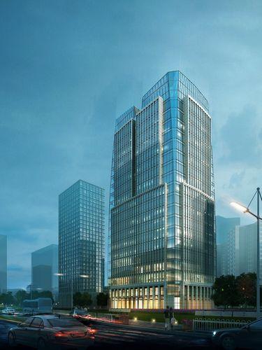 skyscraper business building 003 3d model max 1
