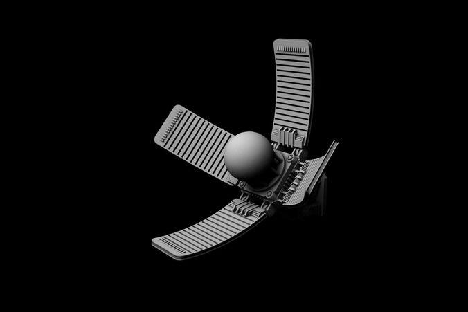 satellite antenna 3d model max fbx 1