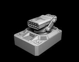 rocket turret for spaceship 3D