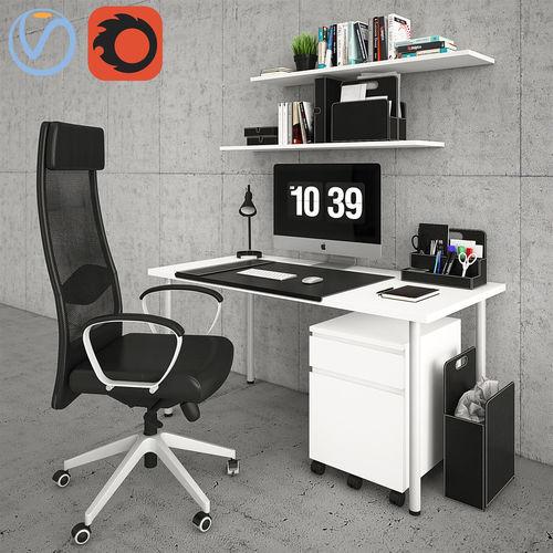 ikea desktop  3d model max obj mtl fbx 1