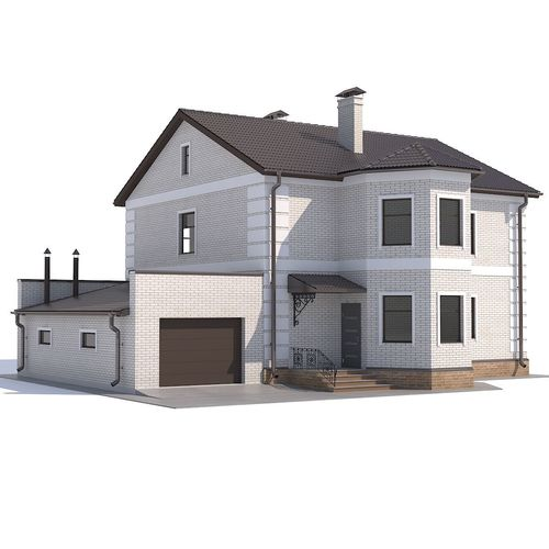 house with garage 3d model max obj mtl fbx 1