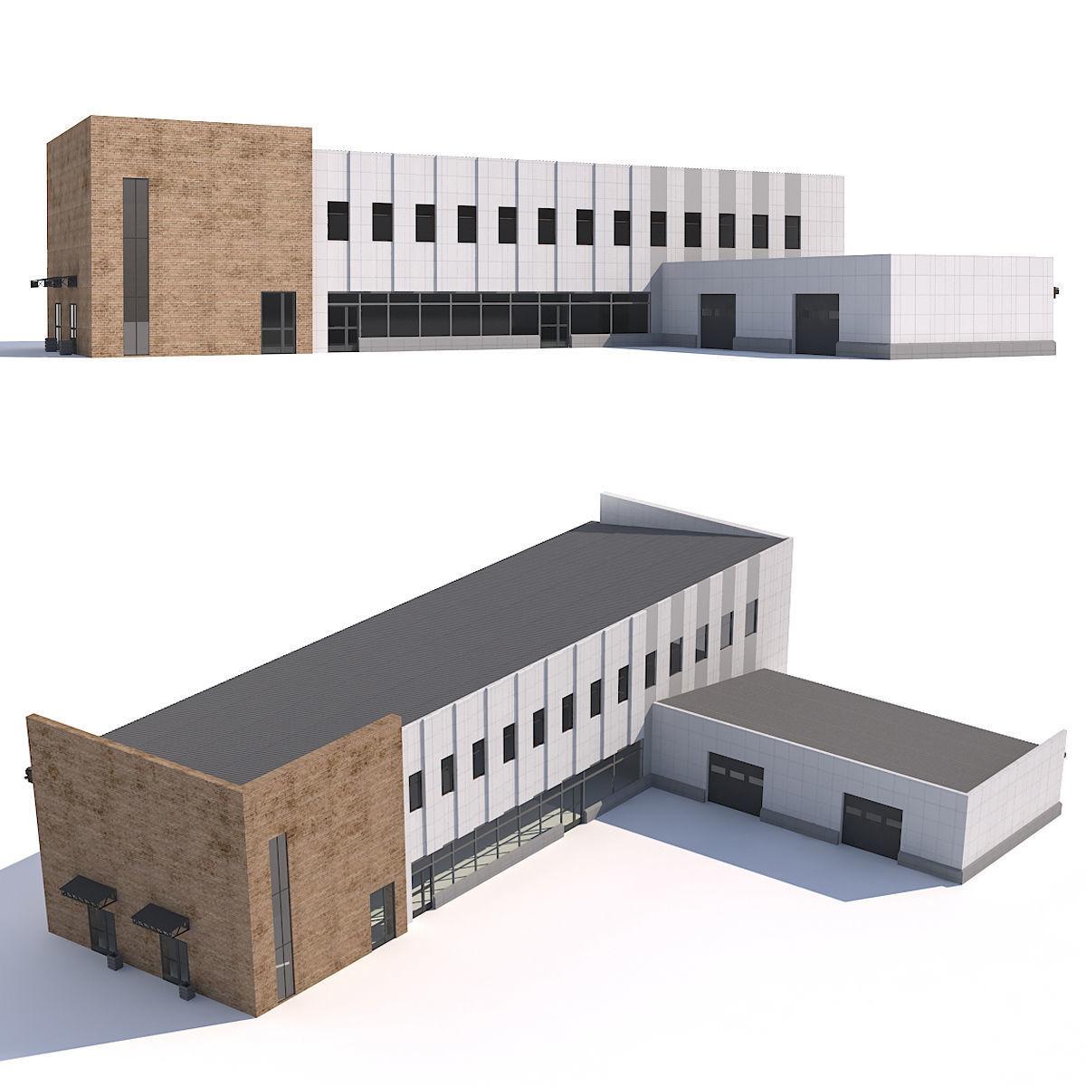 Garage With Shop 3D Model