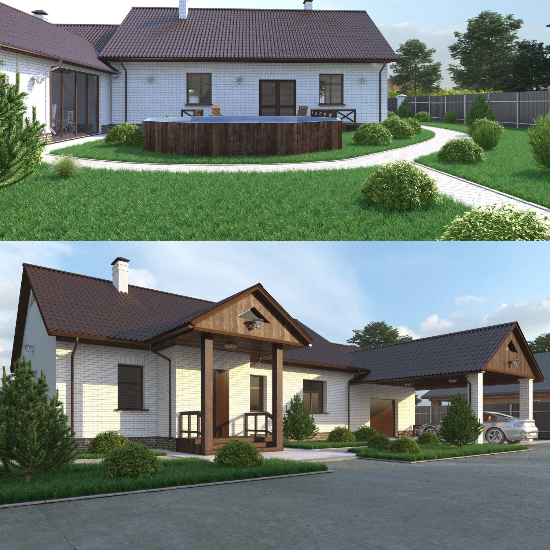 House with garage and veranda
