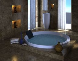 modern spa 3D asset