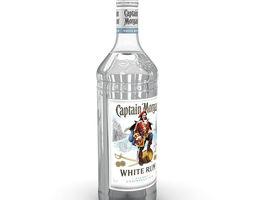 Captain Morgan White 1L Bottle 3D model