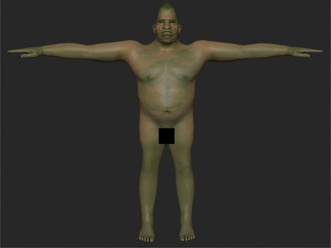mutoid male 3d model rigged animated max fbx 1