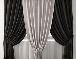 3D linen Curtain 31