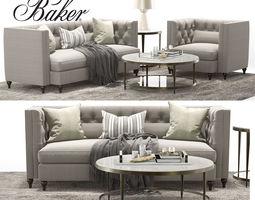 Baker BLAKE TUFTED EXTENDED SOFA BLAKE TUFTED LOUNGE 3D