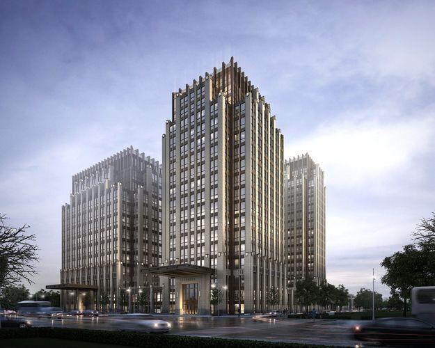 skyscraper business building 013 3d model max tga 1