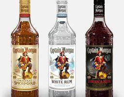 Captain Morgan Bottle Set 3D model