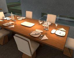3D asset Dinner Set 1
